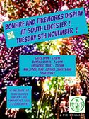 Bonfire and firework night at South Leicester Tuesday 5th November