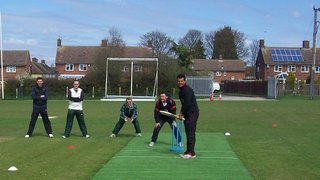 Opening of the new artificial wicket by Shiv Thakor and Greg Smith