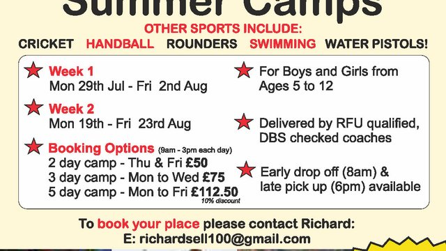 1 WEEK TO GO UNTIL FINAL TAG & TOUCH RUGBY SUMMER CAMP