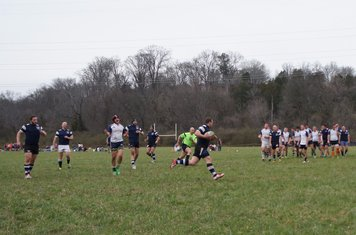 Hussey strolling in a try!