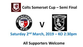 Colts Somerset Cup - Semi Final - CANCELLED