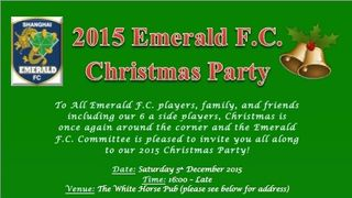Shanghai Emerald FC Christmas Party at White Horse Thumb Plaza