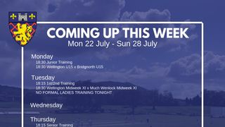 This Week: U15s vs Bridgnorth On Monday!