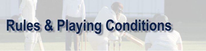 2019 Rules & Playing Conditions