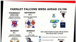 Fixtures Week Commencing 22/06