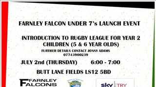 Farnley Falcons U7's Launch Event