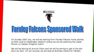 Falcons to partake in RFL Founders Walk