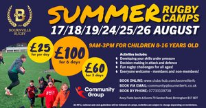 Summer Rugby and Multi Sports activities for children at Bournville RFC