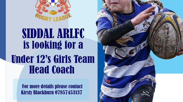 Siddal U12s Girls Head Coach Appeal