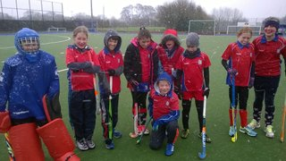 A snow covered pitch made for a fun morning of hockey