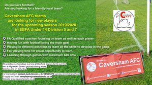 Caversham AFC U14 teams looking for new players