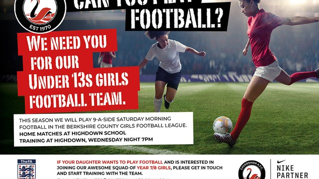 Year 7/8 Girls needed for U13 Swans team