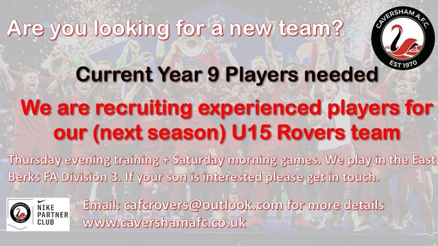 Current Y9 Players needed.........