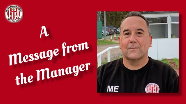 A MESSAGE FROM THE MANAGER