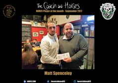 The Coach and Horses NURFC Player of the month for September 2017 is....