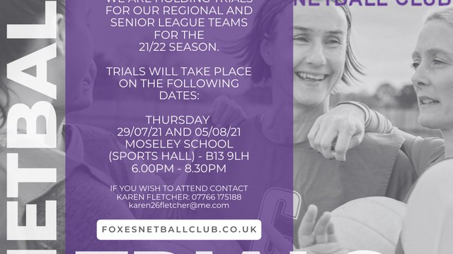 Foxes Netball Trials