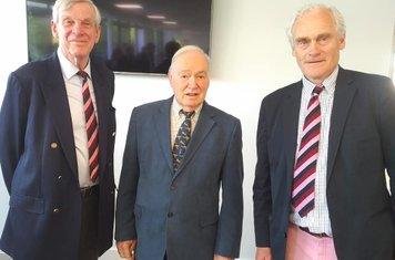 Three Guildford CC Presidents - David Watts, David Frith & Charles Woodhouse.