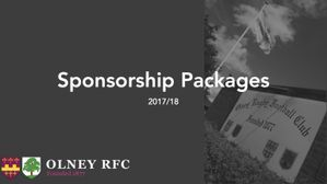 Sponsor Olney RFC