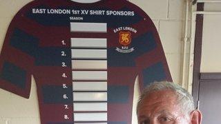 Shirt sponsor Pete Stubbs