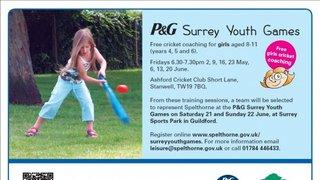 P&G Surrey Youth Games - Girls Cricket