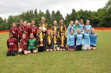 Tilehurst Panthers, Thatcham Tornadoes and Woodley United U9 Girls Teams