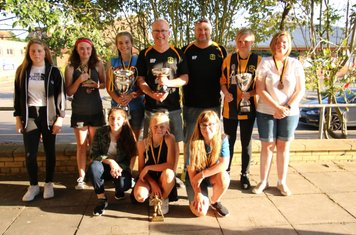 U15 Girls - Team of the Year with their league silverware