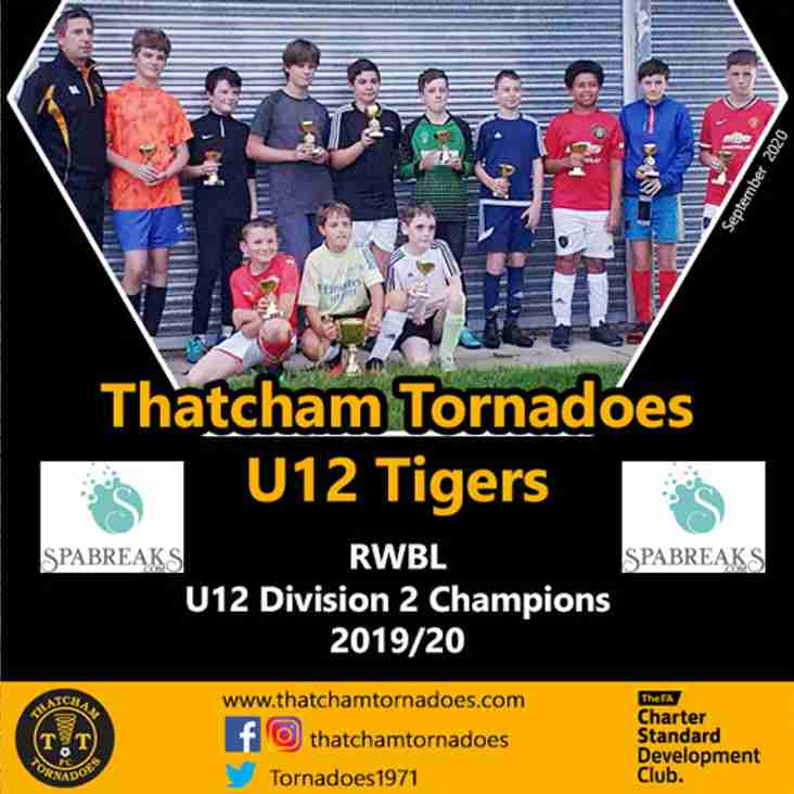 Thatcham Tornadoes U12 Tigers Crowned Division 2 Champions