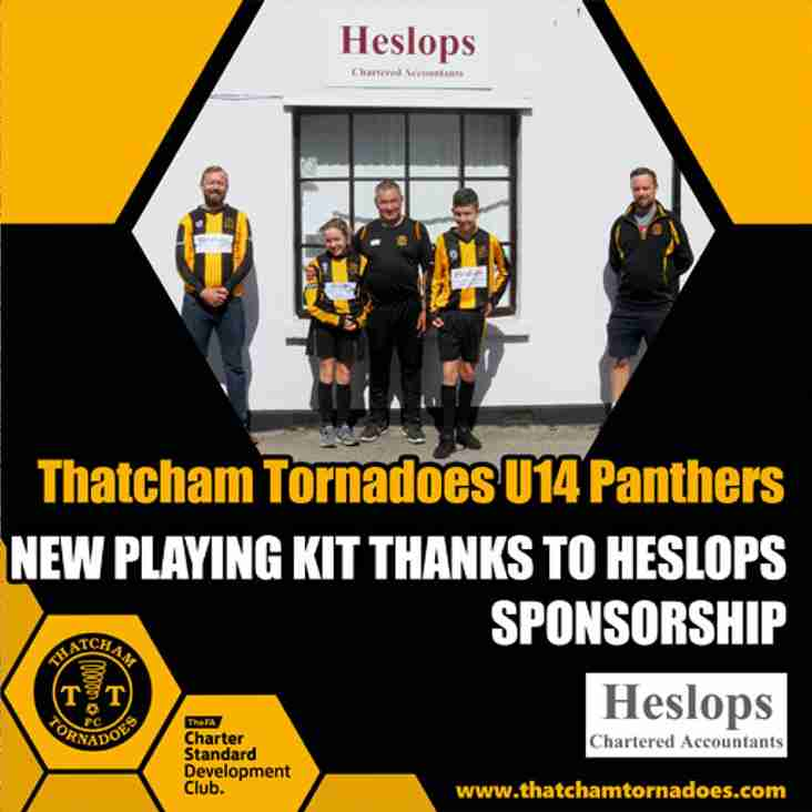 Heslops Continue Sponsorship of Thatcham Tornadoes U14 Panthers