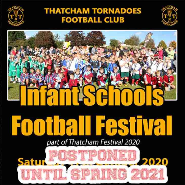 Infant School Football Festival 2020 Postponed