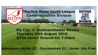 Under 18 v Godmanchester Rovers - Thu 25 Aug 2016