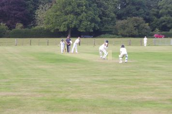 Skipper about to be bowled with 2 needed