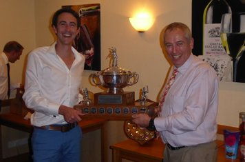 Andy collects Chaz's Club award