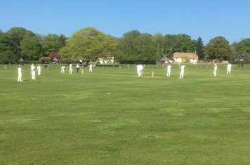 Russell and Sam batting v Suttoners