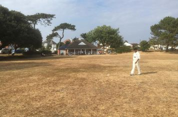 Mudeford pavillion and outfield.