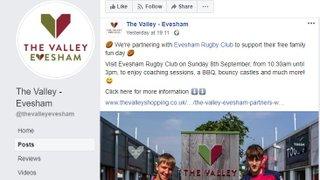 The Valley, Evesham sponsor Junior Rugby Fun Day