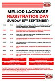 Registration Day is Sunday 15th September 2019