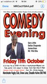 Comedy Night Friday 11th Oct 8pm