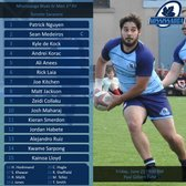 Mississauga Blues Sr Men Announce Line-up for Friday's Game vs Toronto Saracens