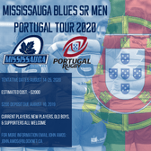 Mississauga Blues Sr Men Headed to Portugal in 2020