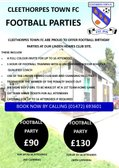 Cleethorpes Town Football Parties