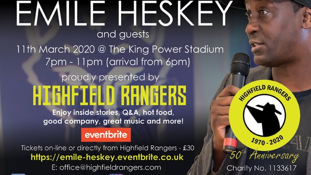 An Evening with Emile Heskey March 11th 2020