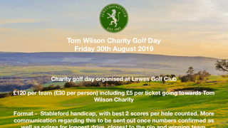 Charity Golf Day - book now!