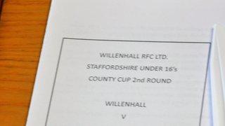 Trentham RUFC U16's vs Willenhall RUFC U16's -  County Cup 2nd Round - 12th November 2017