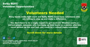 Volunteering at Selby RUFC