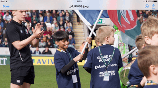 U11's Guard of Honour at Leicester Tigers match 25.03.18