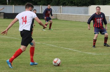 Chaz Fisher in action for Brigg Town.