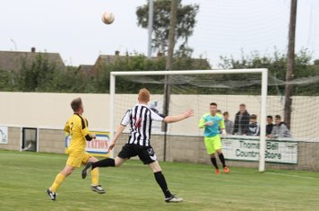 Charlie Cleminshaw in action after coming on.