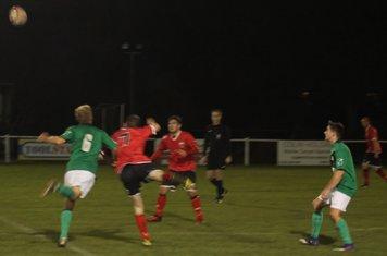 Brad Walker flicking the ball on.