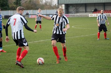 Jake Parker in action for Brigg Town.
