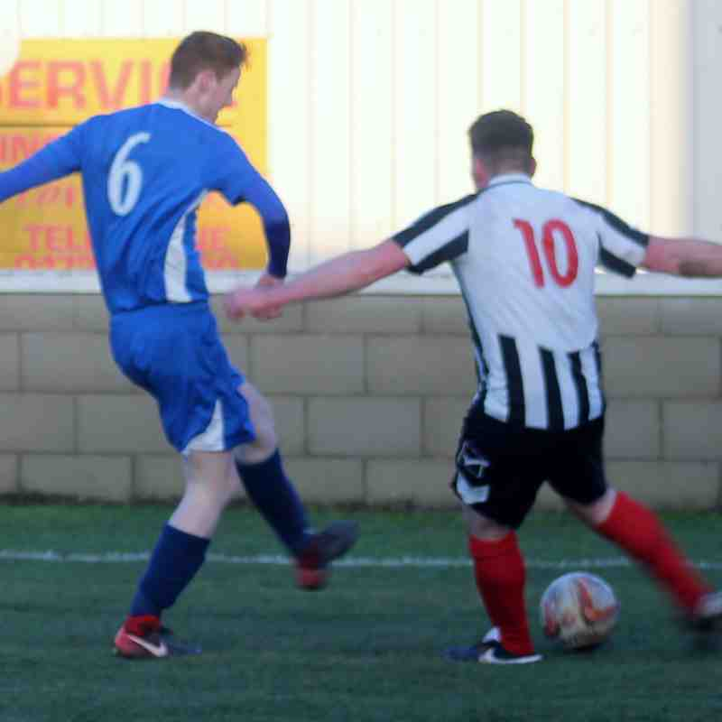 Cameron Hill in action for Brigg Town.